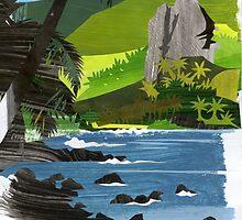 Hatiheu Bay by Michael Lothian