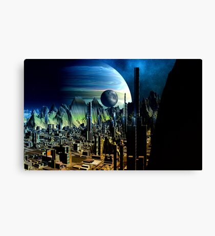 Cities of the Fourth Millennium - Iron City  Canvas Print