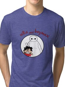 Hiro and Baymax Tri-blend T-Shirt