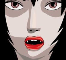 Illustration of vampire Sticker