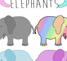 Equality elephants Sticker