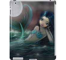 Moonlit Creek Mermaid Fantasy Art by Molly Harrison iPad Case/Skin