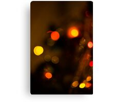 Bokeh of Christmas Tree 2 Canvas Print