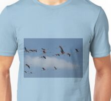 Flying Flamingos Unisex T-Shirt