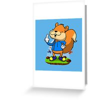 A very bad fur day. Greeting Card