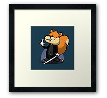 Slow motion squirrel Framed Print