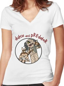 Dutch and Predator Women's Fitted V-Neck T-Shirt