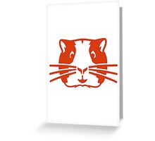 Hamster head face Greeting Card