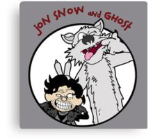 Jon Snow and Ghost Canvas Print