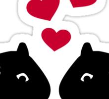 Hamster love red hearts Sticker