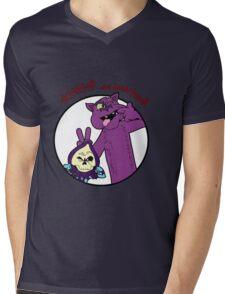 Skeletor and Panthor Mens V-Neck T-Shirt