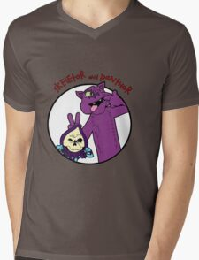 Skeletor and Panthor Mens V-Neck T-Shirt