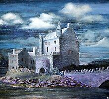 Eilean Donan by Moonlight by BillCowe