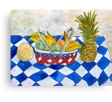 fruit basket still life 5  Canvas Print