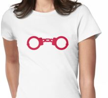 Red Handcuffs Womens Fitted T-Shirt