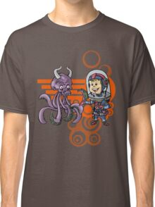 SpaceKid and the Purple Squiggle-Horned Skulltupus Classic T-Shirt