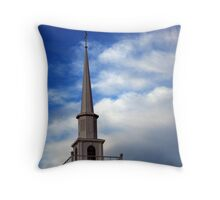 Steeple And Blue Skies Throw Pillow