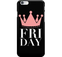 FRIDAY Crown (Black) iPhone Case/Skin