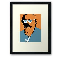Brahms in Blue and Orange Framed Print