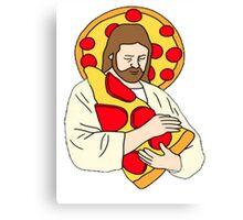 Pizza Jesus Canvas Print