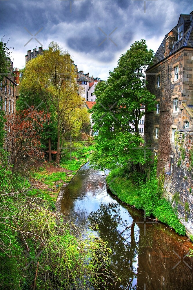 The Water of Leith at Dean Village by Tom Gomez