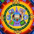 Circle painting detail by richard  webb