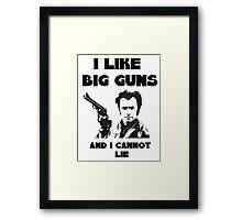Big Guns Framed Print