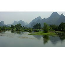 River and mountains - China Photographic Print