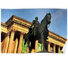 Prince Albert on horseback Poster
