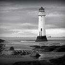 Perch Rock Lighthouse.  by Lilian Marshall