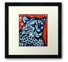Cheetah artwork Framed Print
