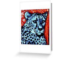Cheetah artwork Greeting Card