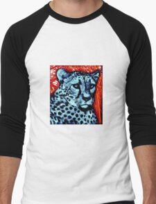 Cheetah artwork Men's Baseball ¾ T-Shirt