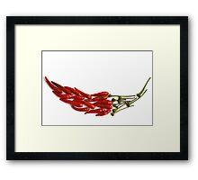 Chili Pepper Mosaic Framed Print
