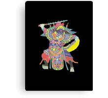 china warrior black Canvas Print