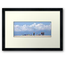 Teenagers at the Beach Framed Print