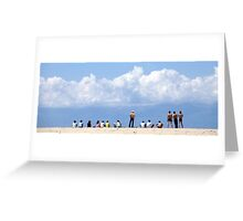 Teenagers at the Beach Greeting Card