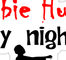 Librarian By Day Zombie Hunter By Night Sticker