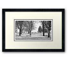 Couchiching Park - Retro Framed Print