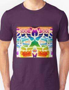 Stain Glass Crosses Duvet Unisex T-Shirt