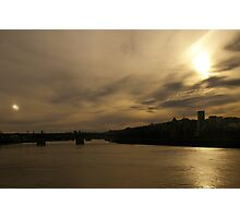 Willamette River Sunset Photographic Print