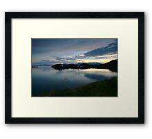 scenic landscape by night Framed Print