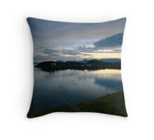 scenic landscape by night Throw Pillow