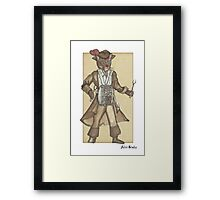 Red Feather Piarte Cat Plays Drum Framed Print