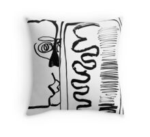 Kiss, too Throw Pillow