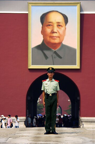 Mao portrait - China by chrisfx