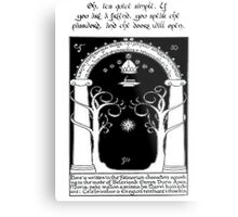 Door to moria Metal Print