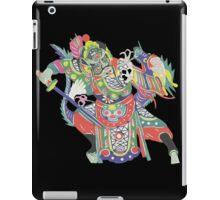 china warrior and dragon black iPad Case/Skin