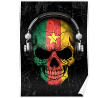 Dj Skull with Cameroon Flag Poster
