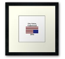 Frank Underwood for President Framed Print